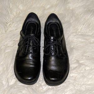 92e6493ccce47 💐St.John s Bay Women s Black Heeled Loafer sz 9